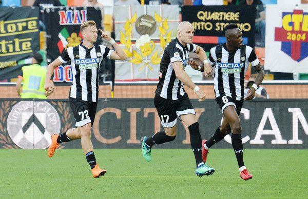Fofana festeggia il gol che salva l'Udinese (ph. Zimbio)
