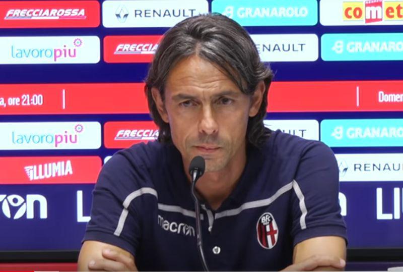 Mister Inzaghi in conferenza stampa a Casteldebole