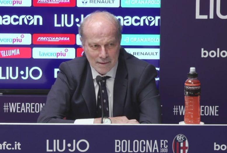 Walter Sabatini in conferenza stampa