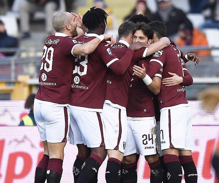 L'esultanza dei ragazzi di Mazzarri dopo il gol di Alejandro Berenguer in Torino-Bologna 1-0 (Social)