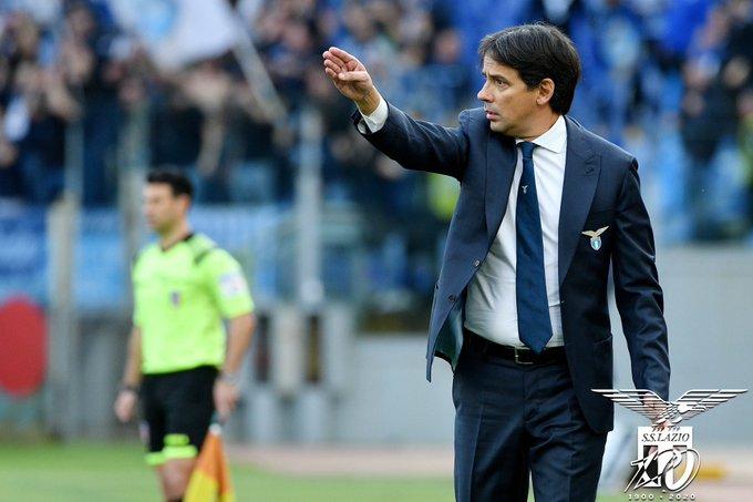 Continua a volare la Lazio di Simone Inzaghi. In caso di vittoria contro l'Hellas mercoledì sarà secondo posto (ph. Twitter Lazio)