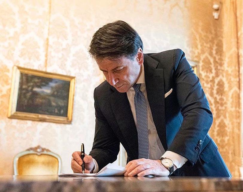 Il Presidente del Consiglio Giuseppe Conte (Ph. Twitter)