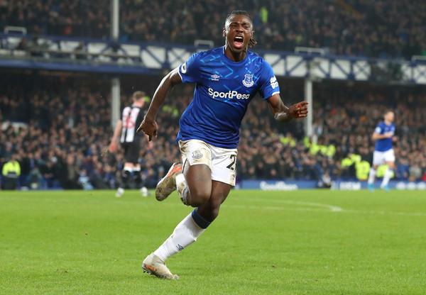 L'attaccante dell'Everton Moise Kean (ph. zimbio)