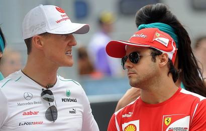 Michael Schumacher e Felipe Massa (Social)