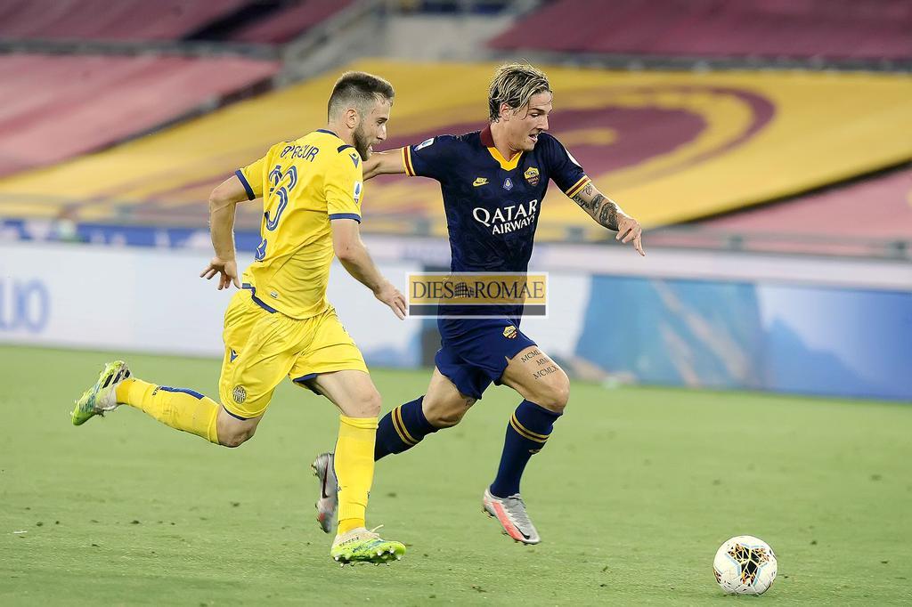Nicolò Zaniolo in azione