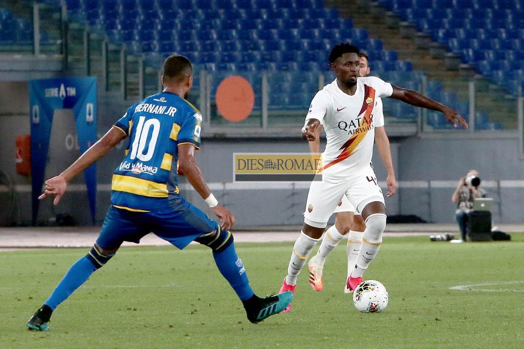 Roma, 8 luglio 2020. Campionato Serie A/TIM, 31° giornata. Incontro Roma-Parma.  Nell'Immagine: Amadou Diawara in azione.