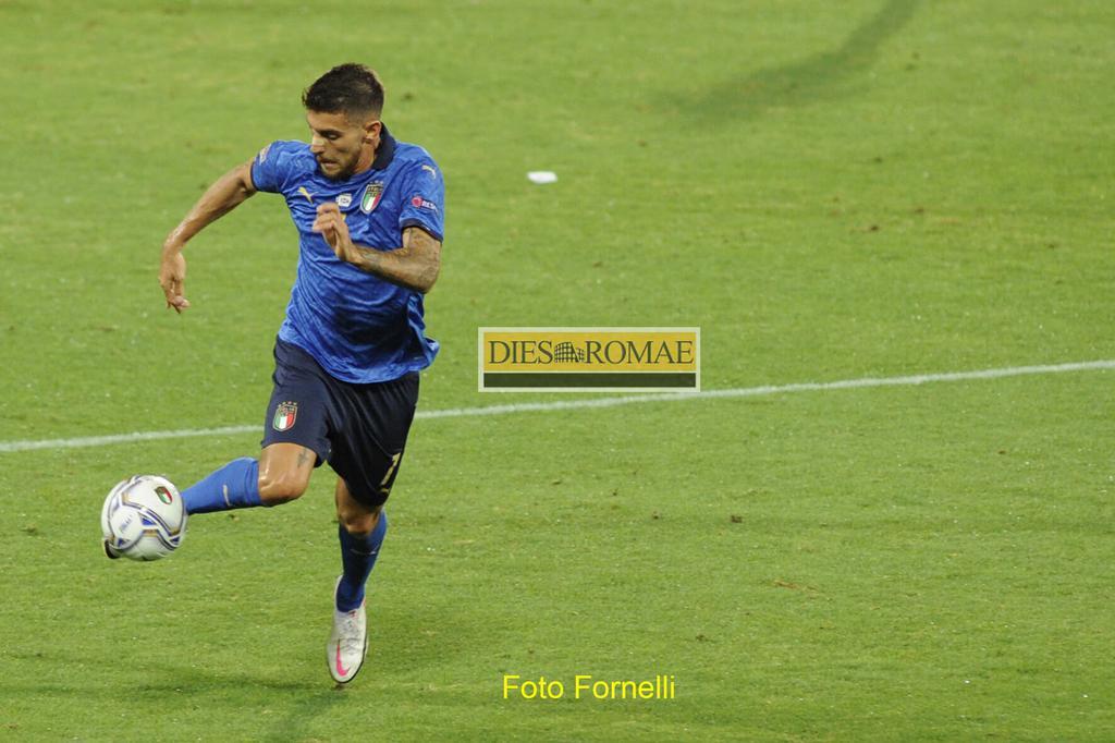 Lorenzo Pellegrini con la maglia della nazionale italiana
