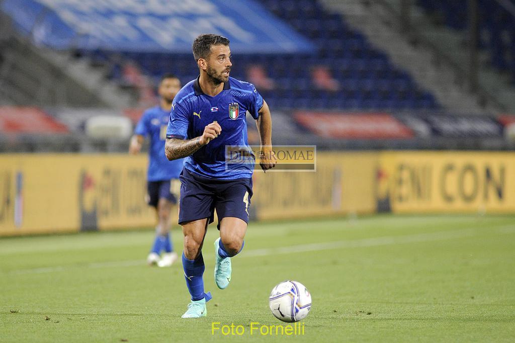 Leonardo Spinazzola con la maglia della nazionale italiana