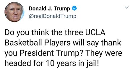 Trump - Tweet - UCLA